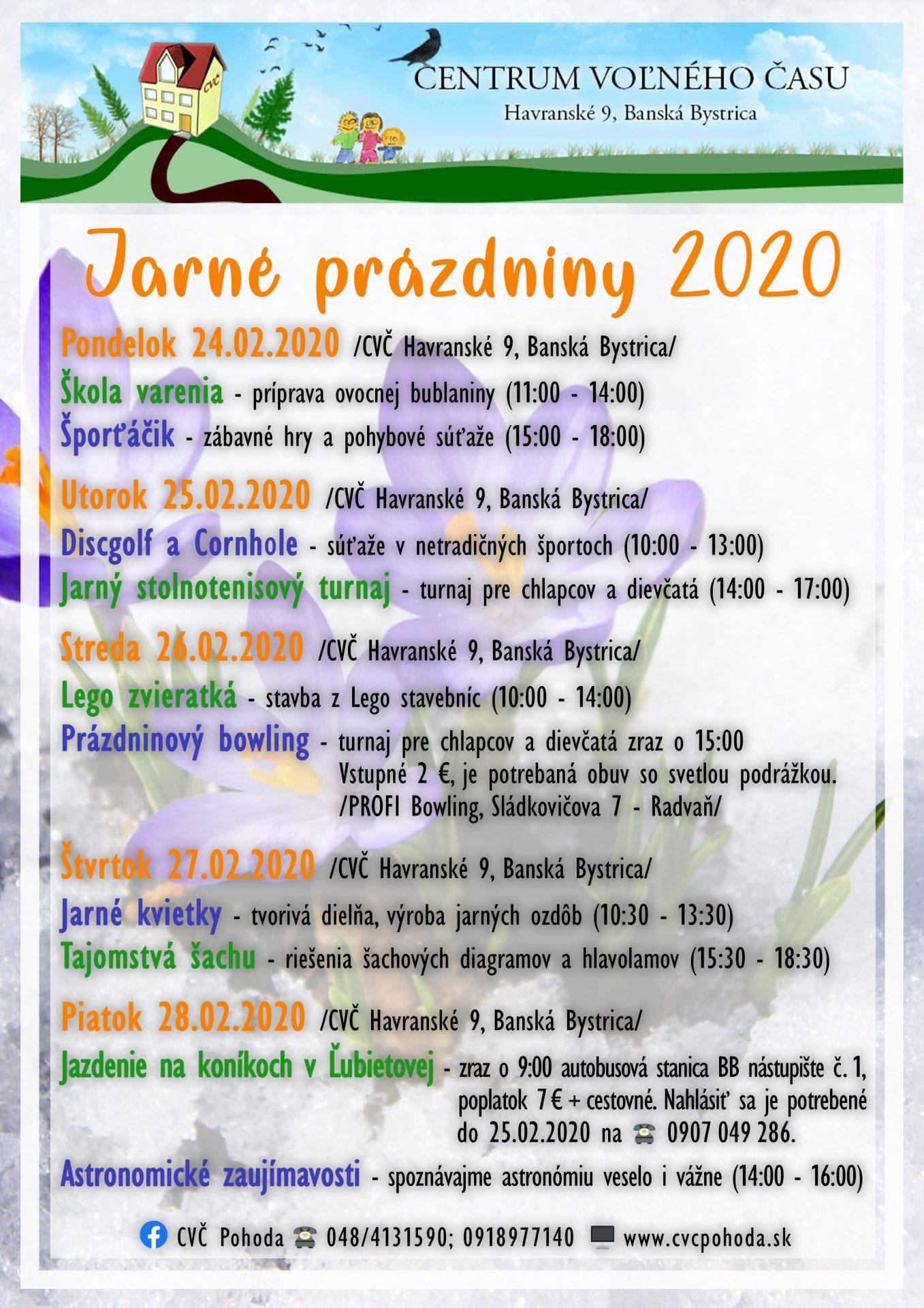 jarne prazdniny 2020